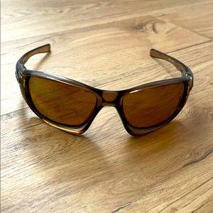 Oakley Ten X Brown Smoke Polarized Sunglasses